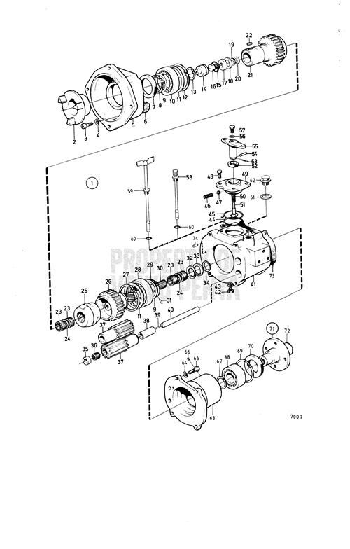 Volvo Penta Exploded view Reverse Gear: 834035