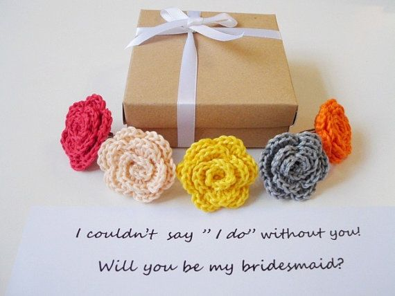 Will you be my maid of honor box Bridesmaid gift by prettyobject