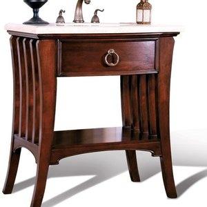 legion furniture ariel sink chest in dark mahogany