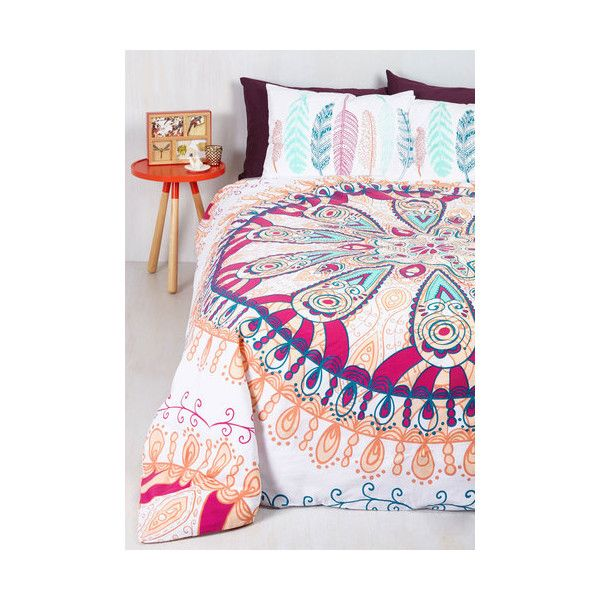 Boho ZzzGÇÖs and Thank You Duvet Cover ($54) ❤ liked on Polyvore featuring home, bed & bath, bedding, duvet covers, house, duvet, multi, cotton duvet, boho style bedding and bohemian duvet
