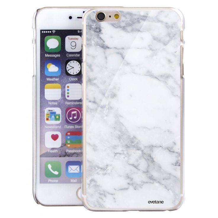Coque Glossy Rigide Marbre White Pour Iphone 6/6s – Taille : Taille Unique
