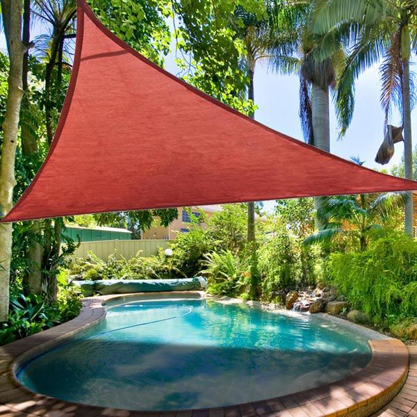 16.5u0027 Triangle Outdoor Sun Shade Sail Canopy Color Opt