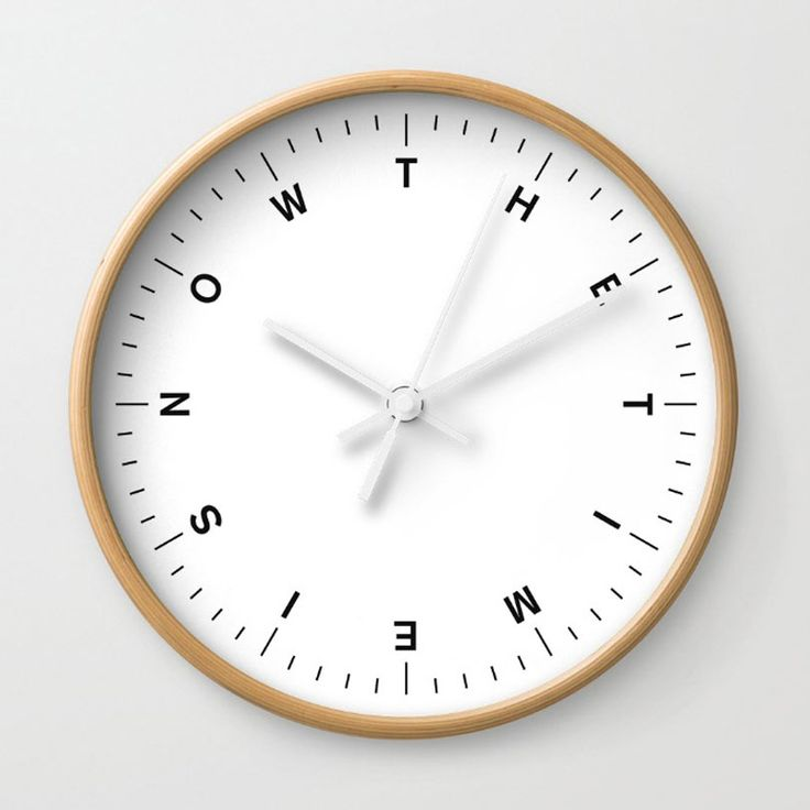 The Time Is Now wall clock by Javier Jaen