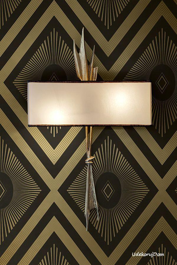 Czekoladowo Złota Tapeta Art Deco W Romby Artdeco Pinterest Wallpaper Diamond And Designer