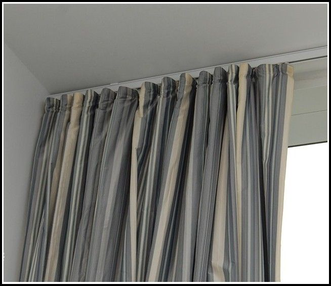 Stylish Curtains On Ceiling Track Decor With Curtain Rods Ceiling