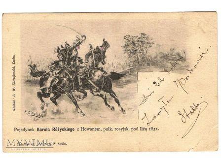Duże zdjęcie Pojedynek K.Różyckiego z Howanem pod Iłżą. 1831r.