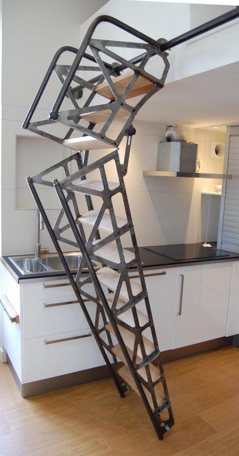 les 25 meilleures id es de la cat gorie escalier escamotable sur pinterest chelle escamotable. Black Bedroom Furniture Sets. Home Design Ideas