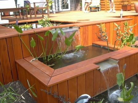 12 best bassin images on Pinterest Backyard ideas, Ponds and - construction terrasse en bois sur parpaing