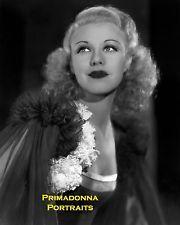 Джинджер Роджерс 8 x 10 лаборатории фото 1930-х раннего Голливуда моды гламурный портрет Babe