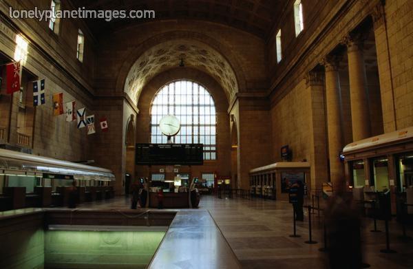 Interior of Union Station  Toronto, Ontario, Canada