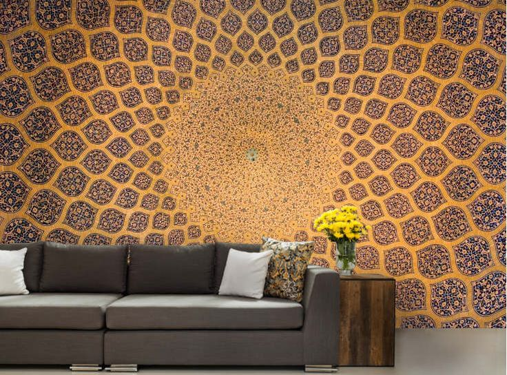 Arabic WALLPAPER, arabesque ceiling mural, marocco wallpaper, arabesque wallpaper, islamic wallpaper, geometric background, ceiling decal,  by 4KdesignWall on Etsy https://www.etsy.com/uk/listing/503420144/arabic-wallpaper-arabesque-ceiling-mural