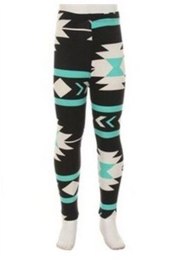Kids Aztec Leggings 3 available colors #aztec #girls #kids