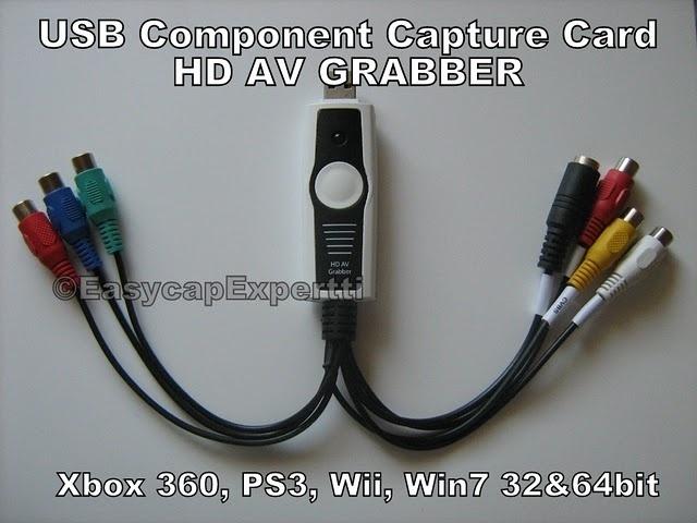 USB 2.0 YPbPr Component Video Capture Card HD AV Grabber. Here is a few sample videos of this product:  New sample videos of USB Component Capture Card HD AV Grabber: http://easycapexpertti.blogspot.fi/2012/06/sample-video-of-usb-component-capture.html?utm_source=BP_recent