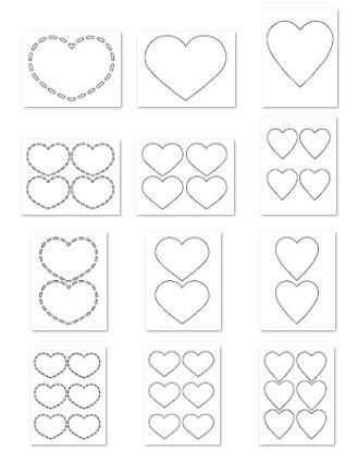 Heart Shapes Template from PrintableTreats.com