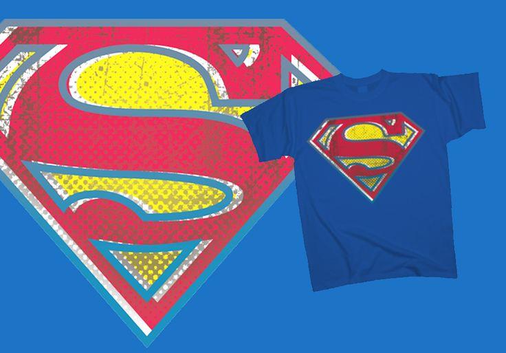 Superman - Retro shield http://www.toonshirts.com/products/superheroes/44-superman-retro-shield