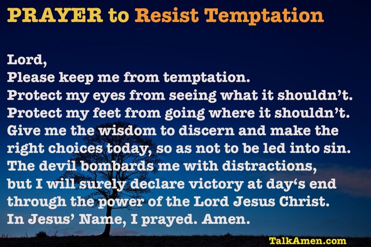 Prayer to Resist Temptation