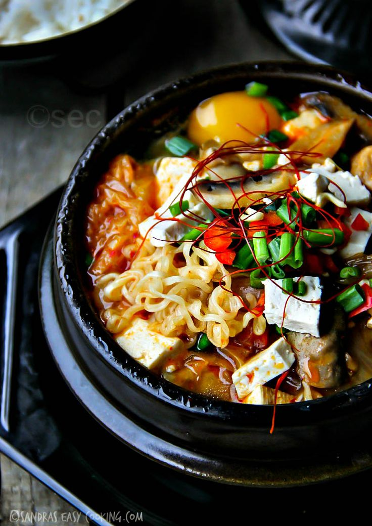 {korean} Spicy Gourmet Kimchi Ramyun #recipes #koreanfood #ramen @SECooking | Sandra | Sandra | Sandra