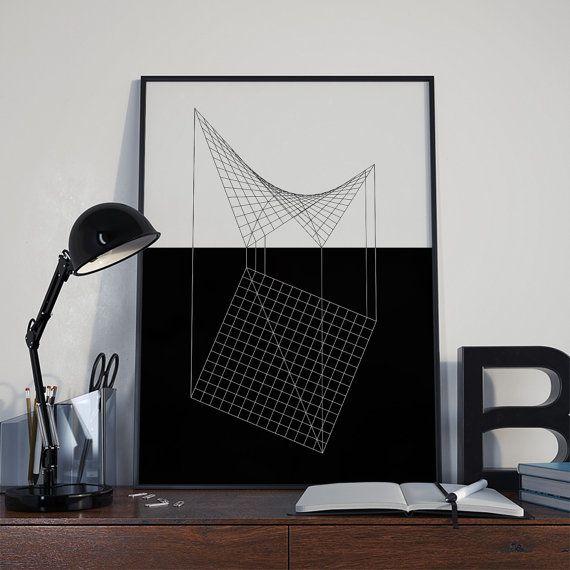 Geometric art wall art wall prints printable di DamaDigitalDesign