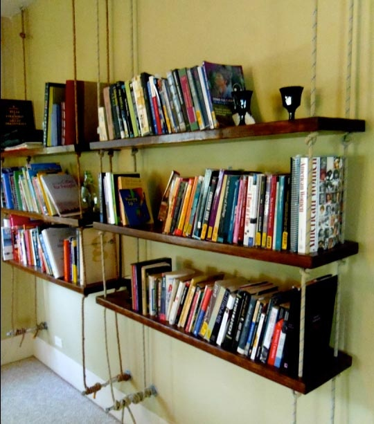 1000 Ideas About Hanging Bookshelves On Pinterest