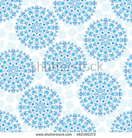 Seamless geometric pattern of the composite pattern with traditional elements of the Chuvash culture on a white background. Vector illustration