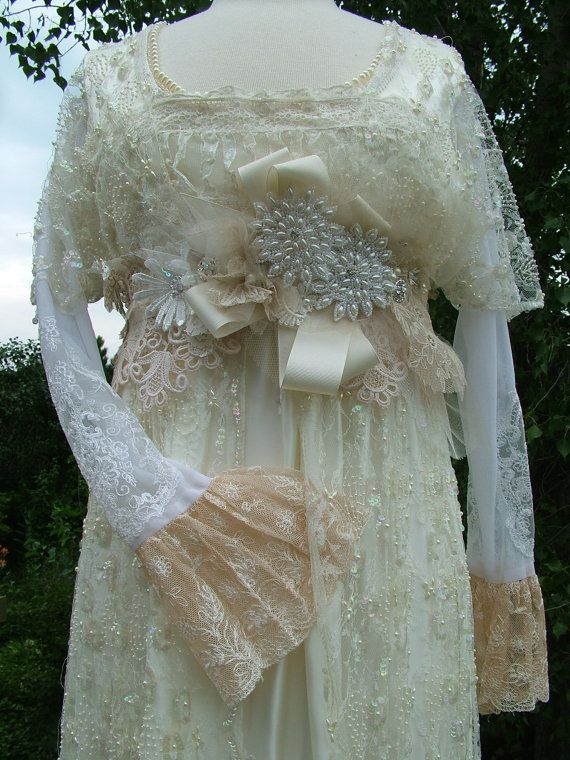34 best downton abbey wedding edwardian theme images on for Victorian inspired wedding dress