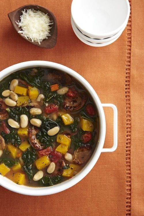 Kale, Sausage, and White Bean Soup