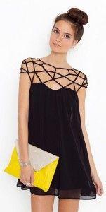 Little black dress - pattern panza de paianjen