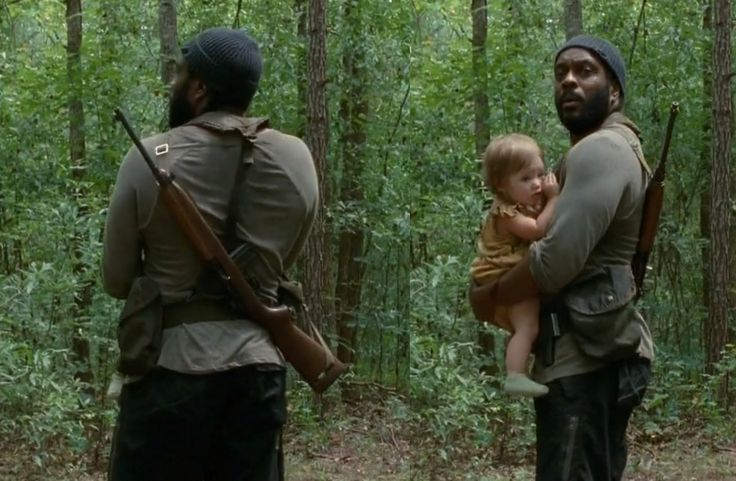 Tyrese Walking Dead | The Walking Dead S04E10 - Tyreese with and without baby
