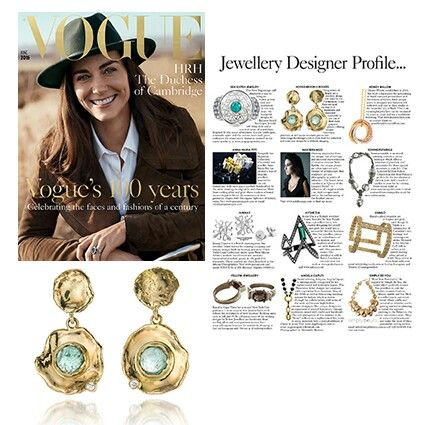 We are do proud to be featured in the British Vogue, their centenary issue of June! Our beautiful Fairtrade gold earrings with tourmaline and diamonds are featured in the Jewellery Designer Profile.  Www.hoogenboombogers.com