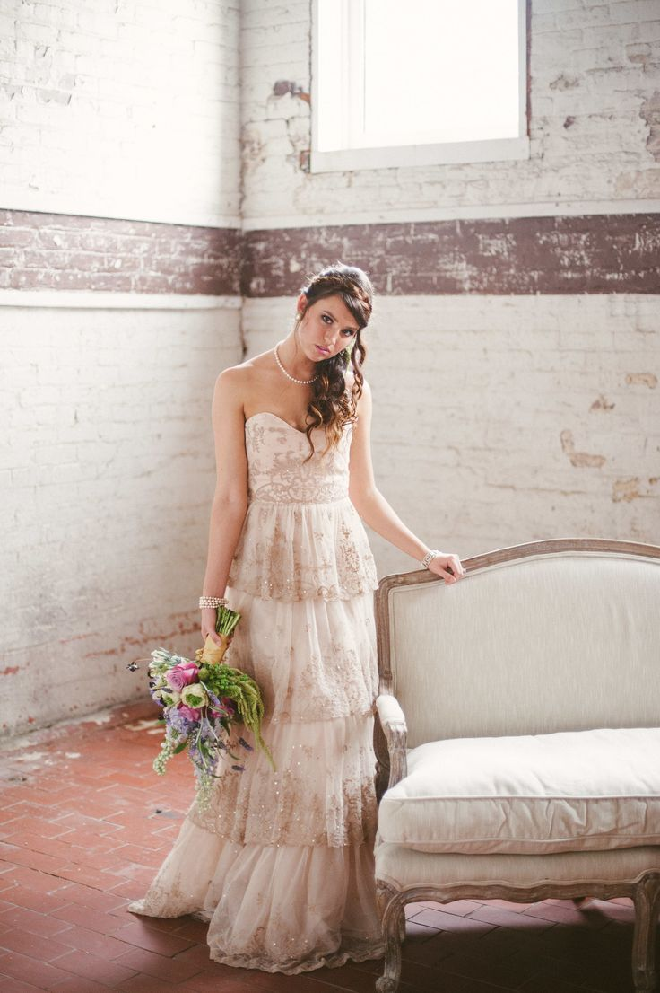 Blush Pink Wedding Gown By BHLDN Weddings