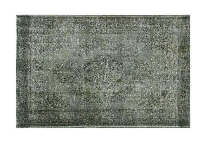 Vintage vloerkleed, recoloured, taupe 245cm x 157cm (nr1290) | Rozenkelim.nl - Groot assortiment kelim tapijten