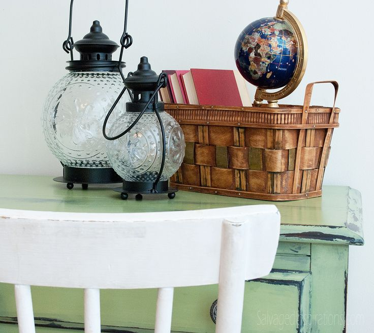 Salvaged Inspirations | Staging Painted Furniture With Lanterns, And  Inexpensive Books And Baskets From The