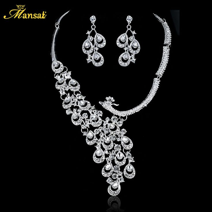 Cheap Bridal Party Jewelry Buy Quality Wedding Sets Directly From China Necklace Earring Set Suppliers Luxury Silver Color Crystal Bride