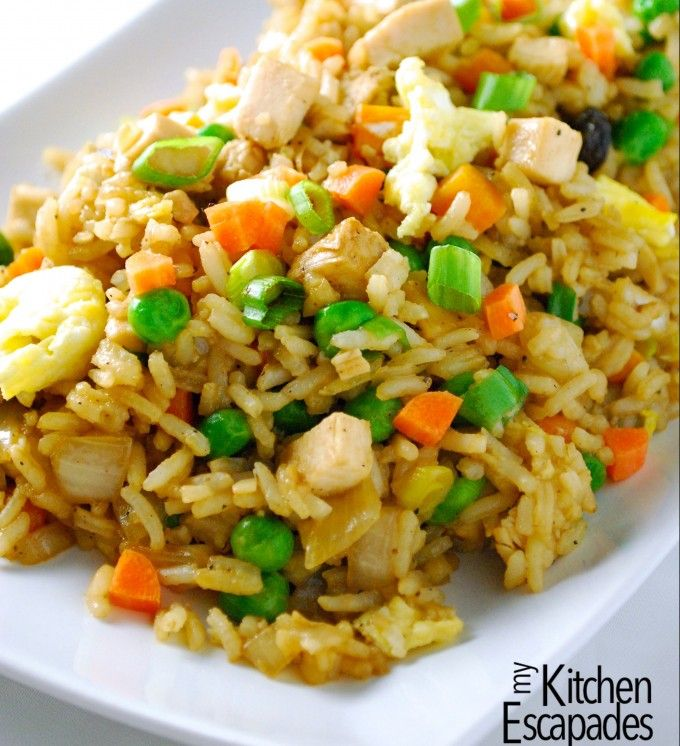 Best Chicken Fried Rice - My Kitchen Escapades#more-2479