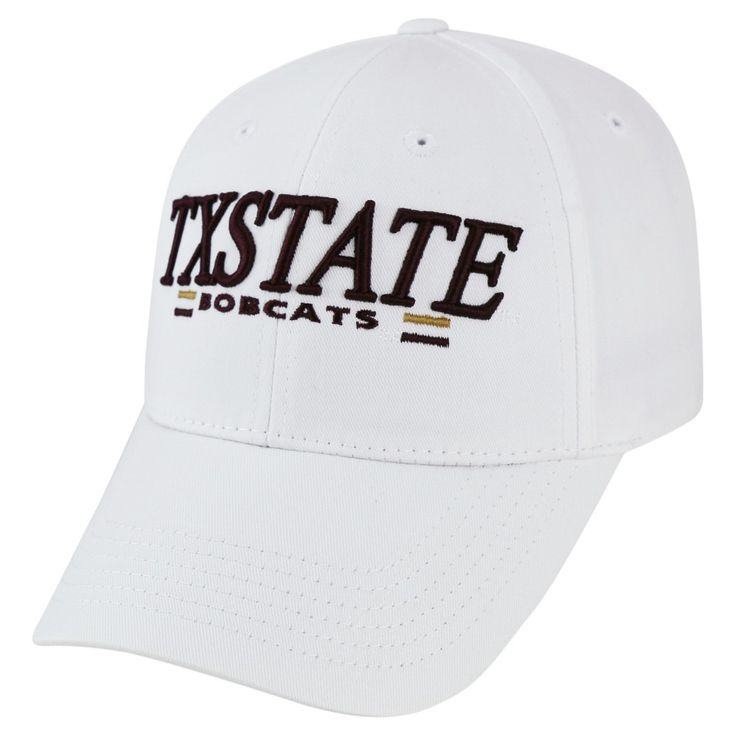 Baseball Hats NCAA Texas State Bobcats White, Men's