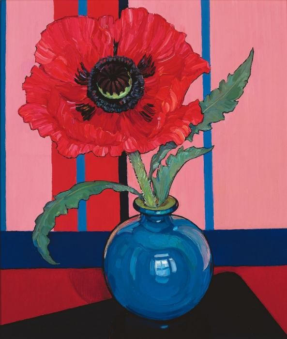 Criss Canning (b.1947) — Pink Poppy (593x700)