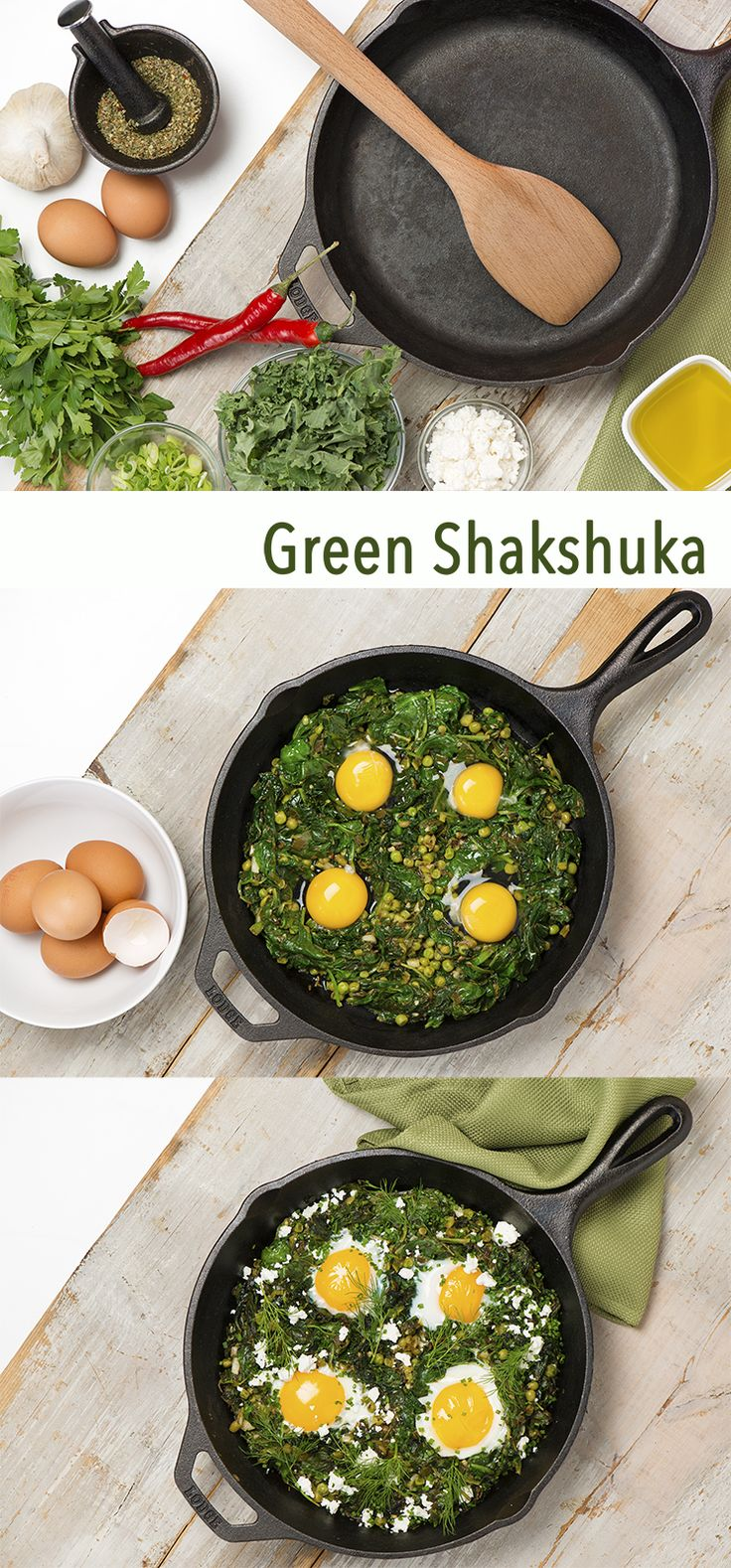 You don't need the luck of the Irish to try this delicious and easy-to-make green Shakshuka!