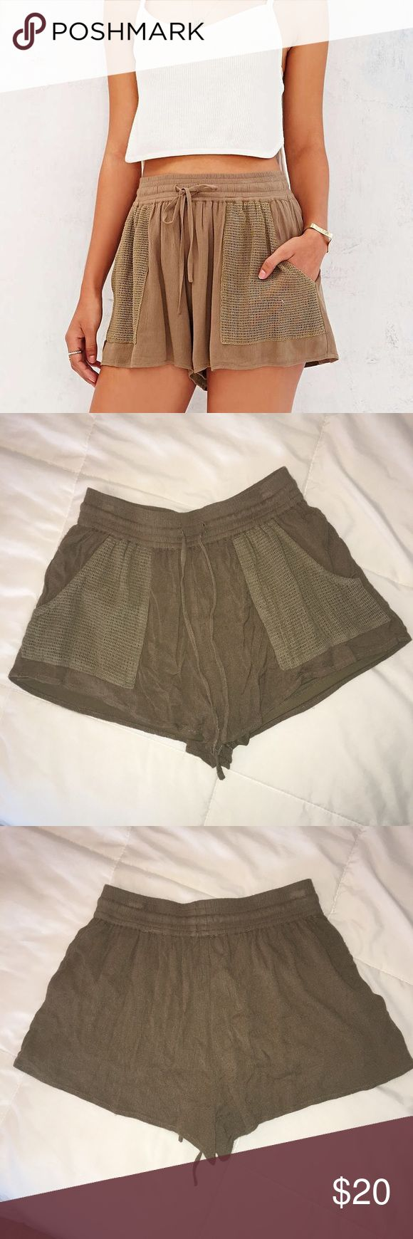 Band of Gypsies Army Green Shorts From Urban Outfitters! Only worn a few times! So cute. Size is XS but I'm a medium and they fit me. Marked as such. There's also an inner lining (pictured). Urban Outfitters Shorts