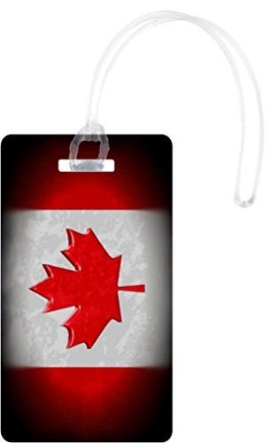 Rikki Knight Canadian Flag Design Flexi Luggage Tags - Premium Quality Plastic ID Card Tags - Great for Travel (Set of 2)