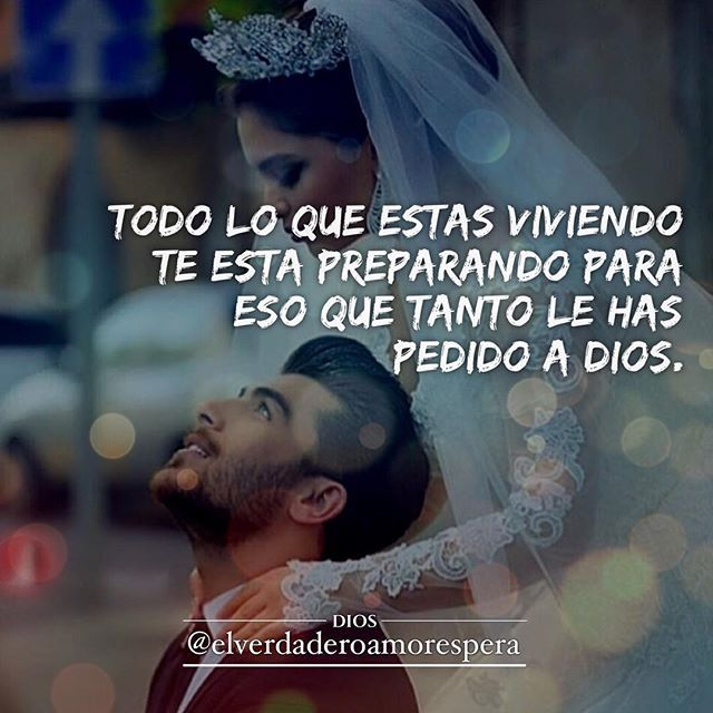 Y de esto no tengo la menor duda...Dios te puso en mi camino y fue lo mejor q me a pasado...TEAMO esposo mío...Mi Rey pechocho...❤️