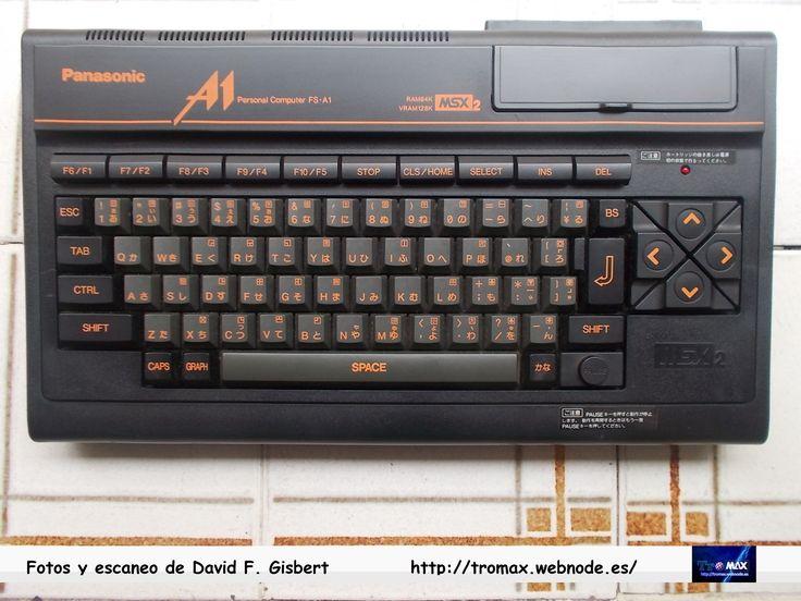 MSX-2 Panasonic FS-A1, Fotos y propietario David F. Gisbert (Tromax) Usuario informatico de Amiga, MSX, coleccionista de microordenadores y videoconsolas