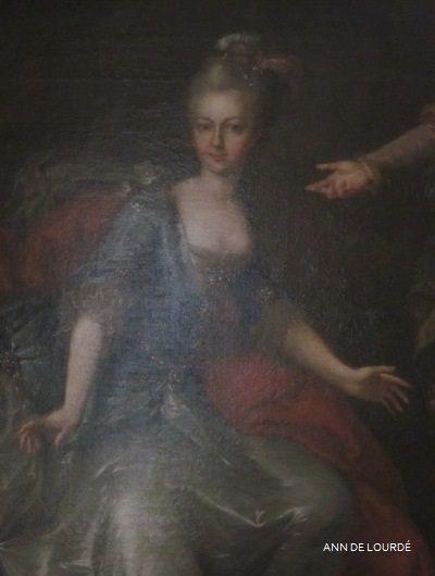 Archduchess Maria Elisabeth of Austria as Melpomene, the Muse of Tragedy  Detail by Johann Georg Weikert  1765  Le Petit Trianon, Le Château de Versailles
