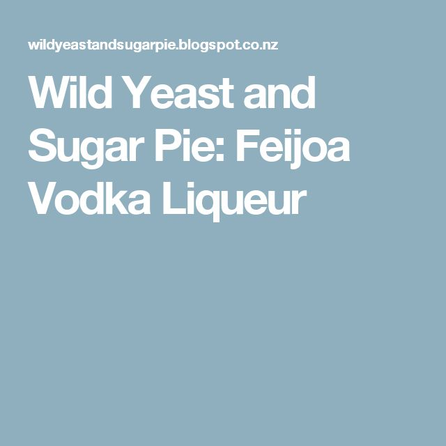 Wild Yeast and Sugar Pie: Feijoa Vodka Liqueur