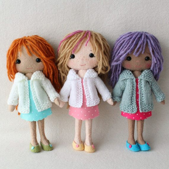 Complete set of pdf Patterns for Pocket Poppet Doll by Gingermelon