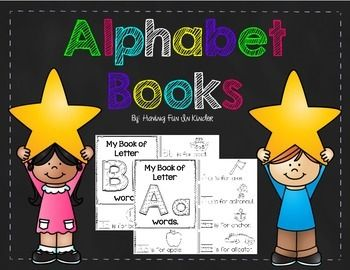 This set of alphabet books is a great way to help your students learn their letters and beginning sounds.  There are a total of 31 books, comprised of 21 consonants and 10 vowels (2 of each vowel sound).Your students will have a great time coloring and tracing each upper and lowercase letter.