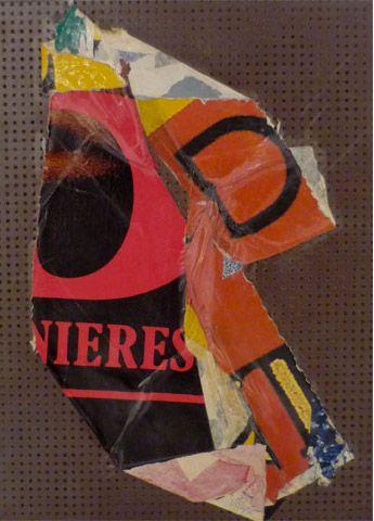 UNTITLED | villegle Arrachage et collage d'affiches sur isorel n°: villeglé-0312-008-2M5