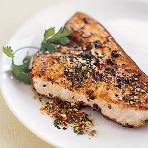 Pan-roast meaty swordfish steaks tonight, then swirl a mixed peppercorn butter sauce in the same pan! Who can argue with this elegant one-dish dinner from Epicurious?
