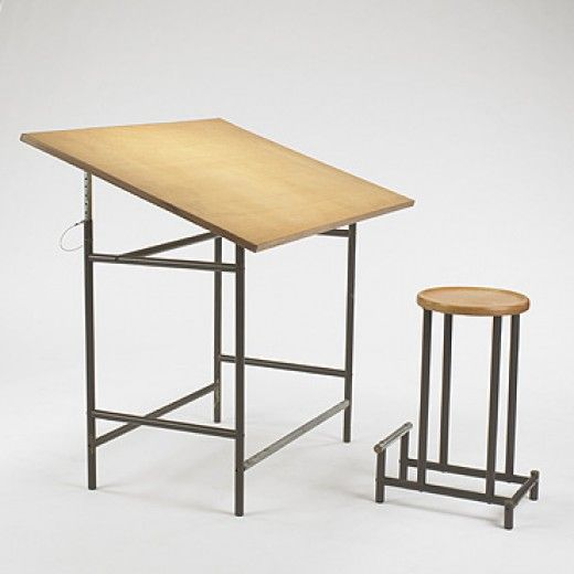 304: Alvaro Siza / prototype drafting table and stool May Design Series 2007, 20 May 2007 Auctions | Wright