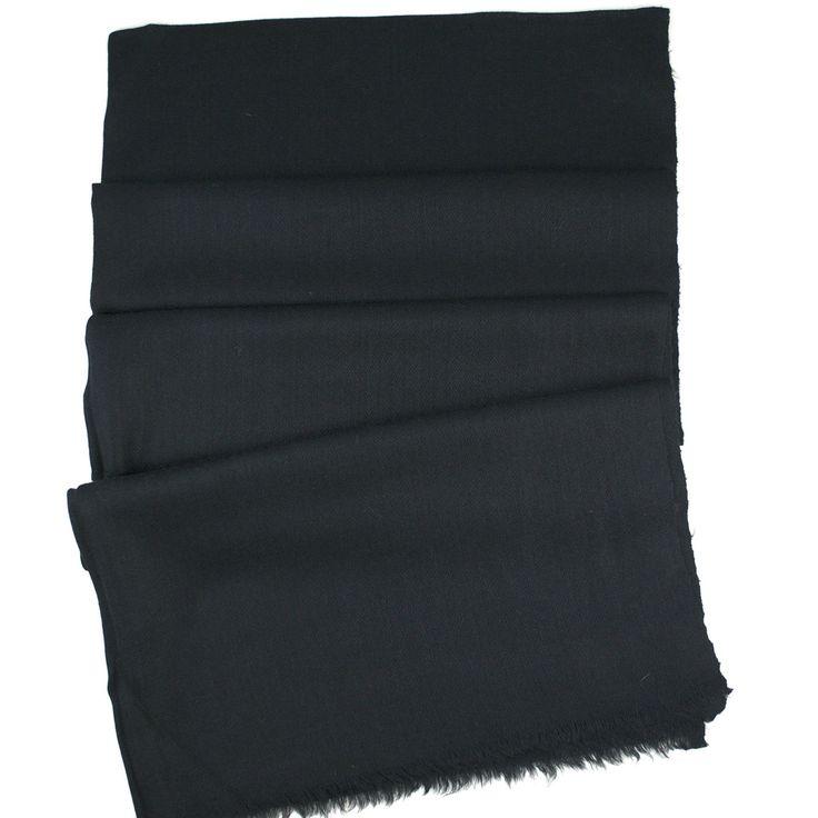 Handwoven Cashmere Pashmina - Black