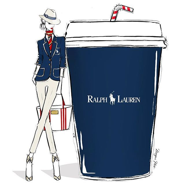 I'm feeling preppy chic this morning... I'm thinking a lovely roasted cup of RALPH LAUREN coffee!